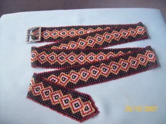 схемы плетения ремней из бисера.